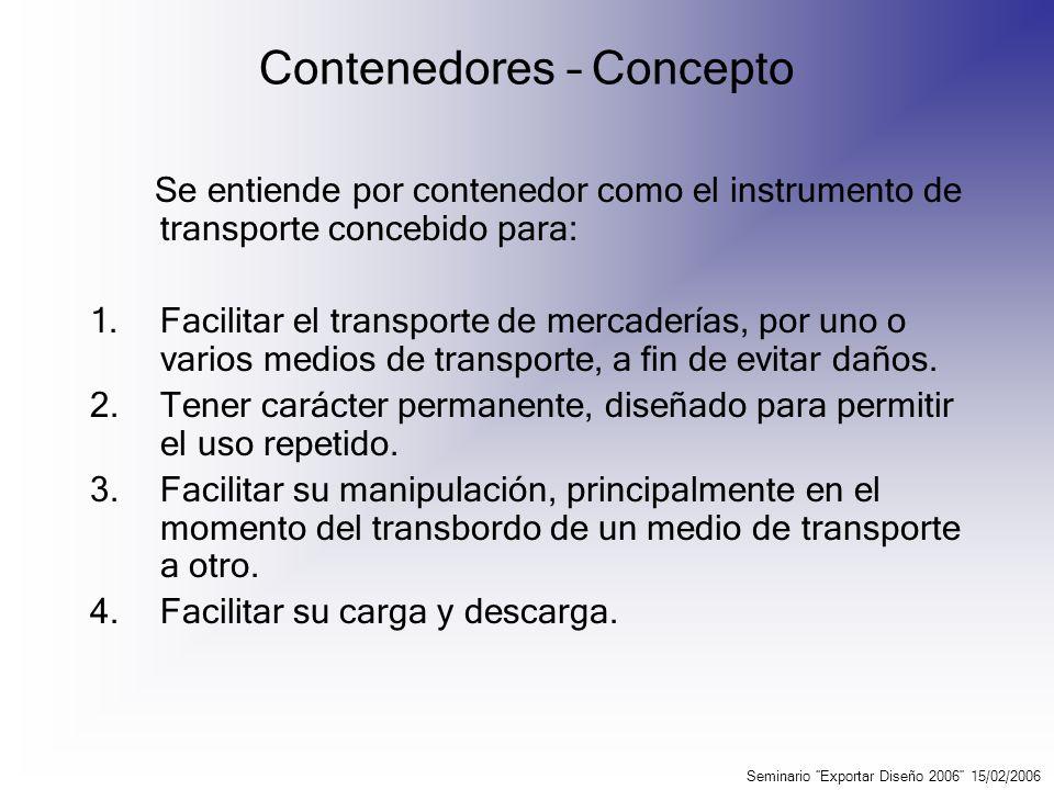 Contenedores – Tipos y medidas Los tipos de contenedores más comunes son utilizados para: 1.Carga general (Dry cargo).
