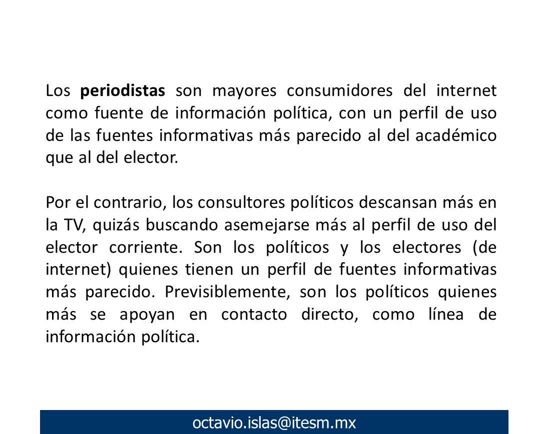 octavio.islas@itesm.mx Los responsables del Comité de Campaña de Felipe Calderón realizaron intenso proselitismo por correo electrónico a través de la cuenta [efelipe@df.pan.org.mx].