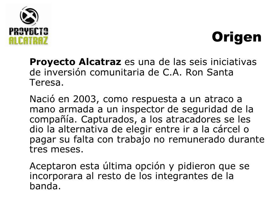 Origen Proyecto Alcatraz es una de las seis iniciativas de inversión comunitaria de C.A. Ron Santa Teresa. Nació en 2003, como respuesta a un atraco a