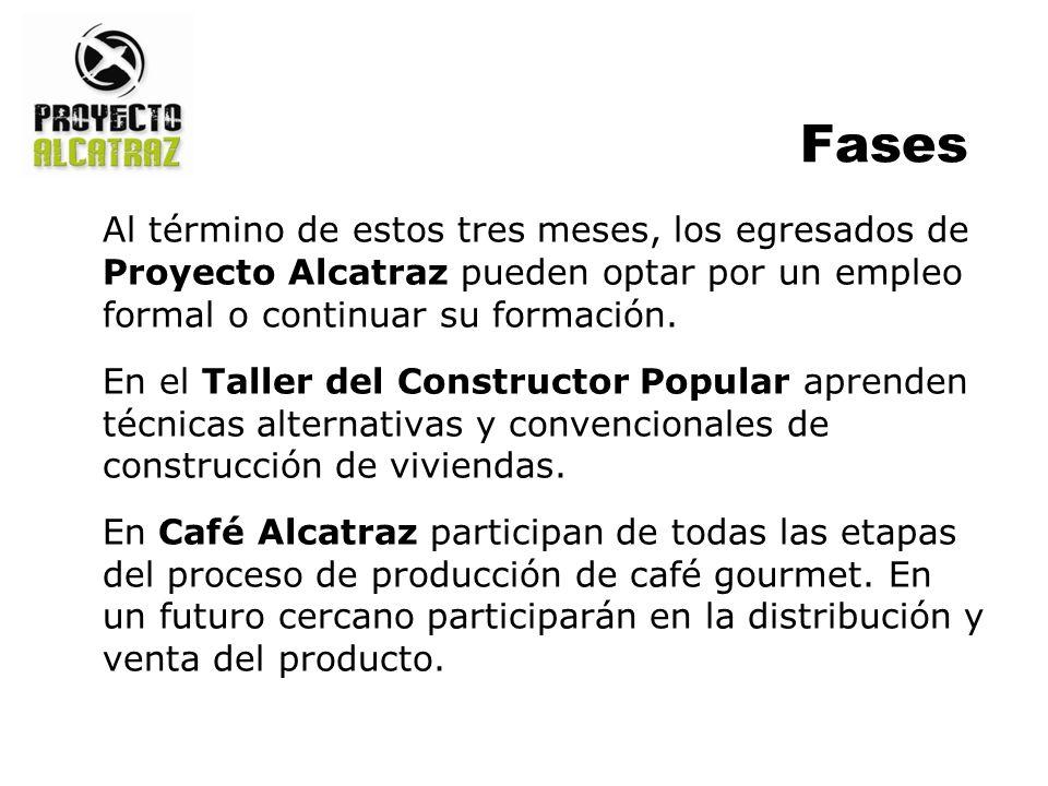 Al término de estos tres meses, los egresados de Proyecto Alcatraz pueden optar por un empleo formal o continuar su formación.