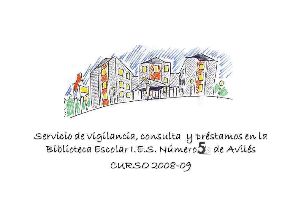 Servicio de vigilancia, consulta y préstamos en la Biblioteca Escolar I.E.S.