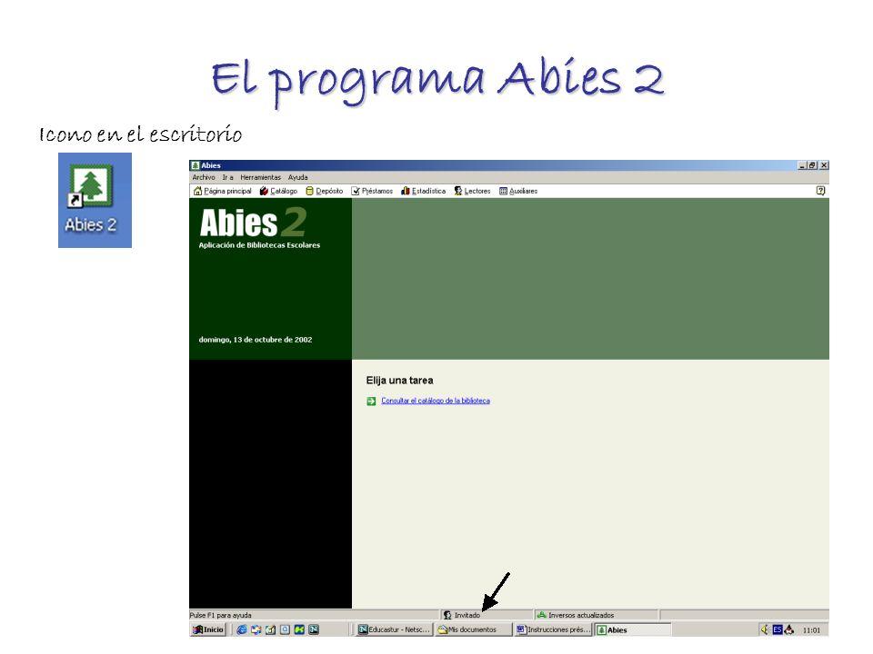 El programa Abies 2 Icono en el escritorio