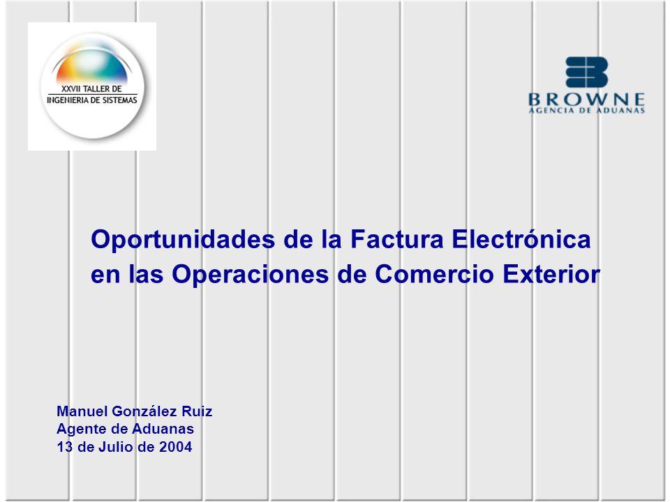 Factura electrónica se implementó adaptando formatos acorde con requerimientos aduaneros e Impuestos Internos.