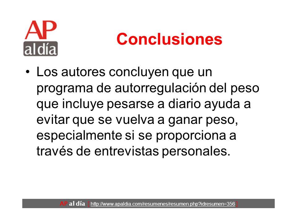AP al día [ http://www.apaldia.com/resumenes/resumen.php idresumen=356 ] Resultados (3)