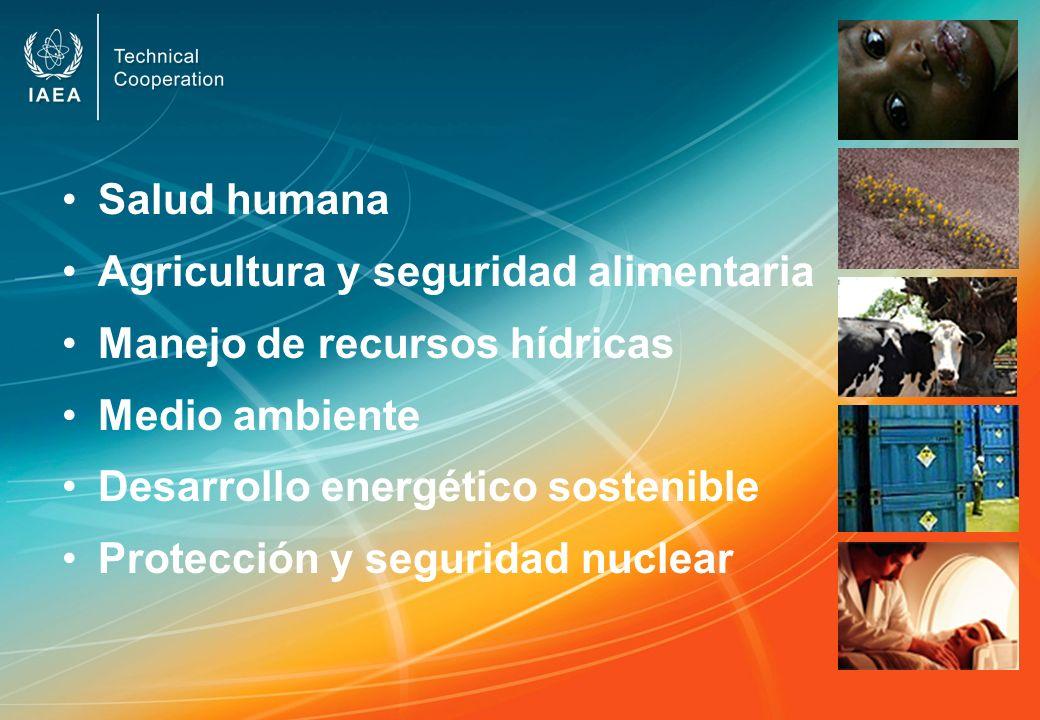 Salud humana Agricultura y seguridad alimentaria Manejo de recursos hídricas Medio ambiente Desarrollo energético sostenible Protección y seguridad nu