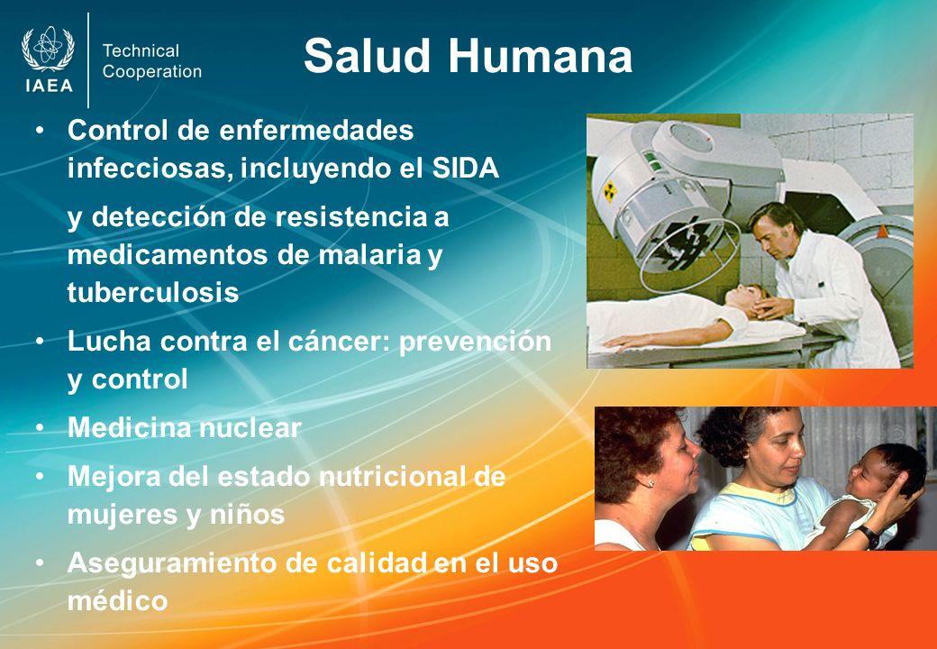 Salud Humana Control de enfermedades infecciosas, incluyendo el SIDA y detección de resistencia a medicamentos de malaria y tuberculosis Lucha contra