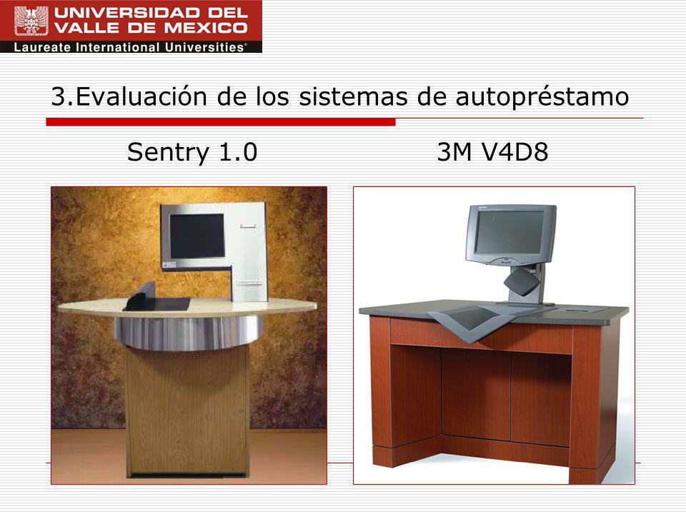12 3.Evaluación de los sistemas de autopréstamo Sentry 1.03M V4D8