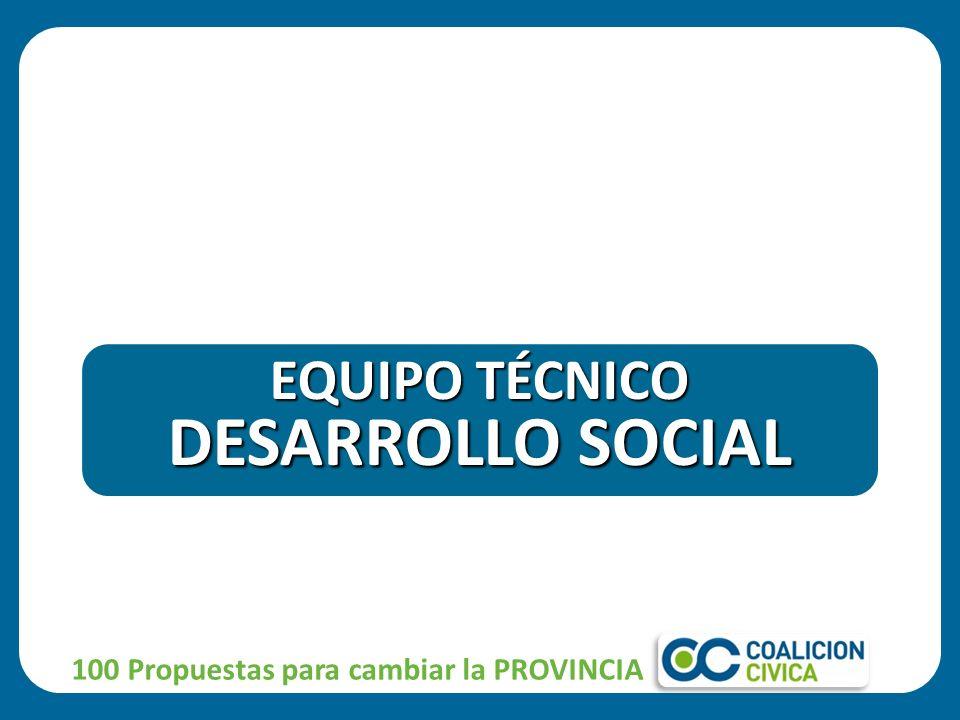 100 Propuestas para cambiar la PROVINCIA EQUIPO TÉCNICO DESARROLLO SOCIAL