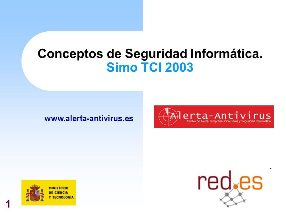 1 Conceptos de Seguridad Informática. Simo TCI 2003 www.alerta-antivirus.es