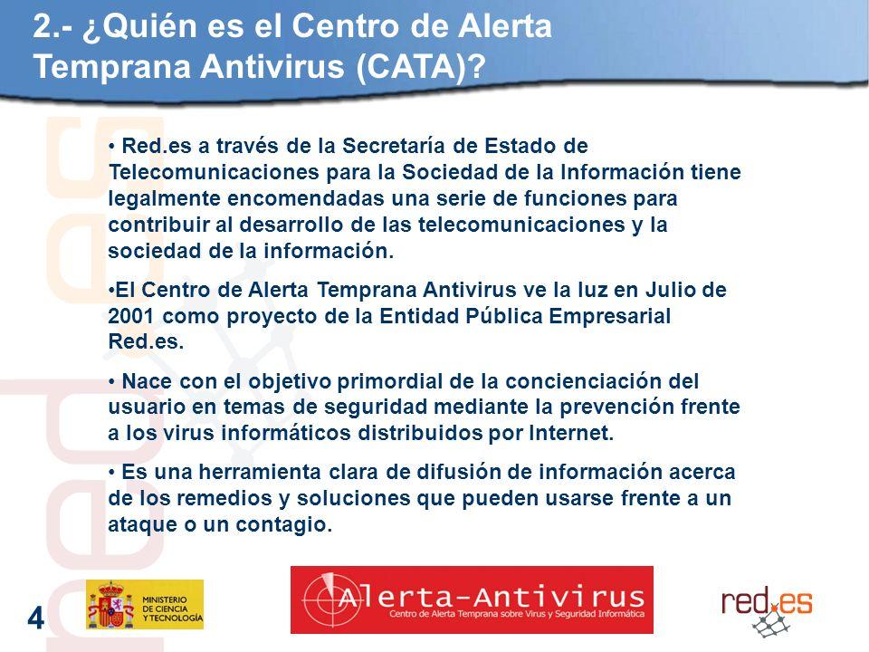 4 2.- ¿Quién es el Centro de Alerta Temprana Antivirus (CATA).