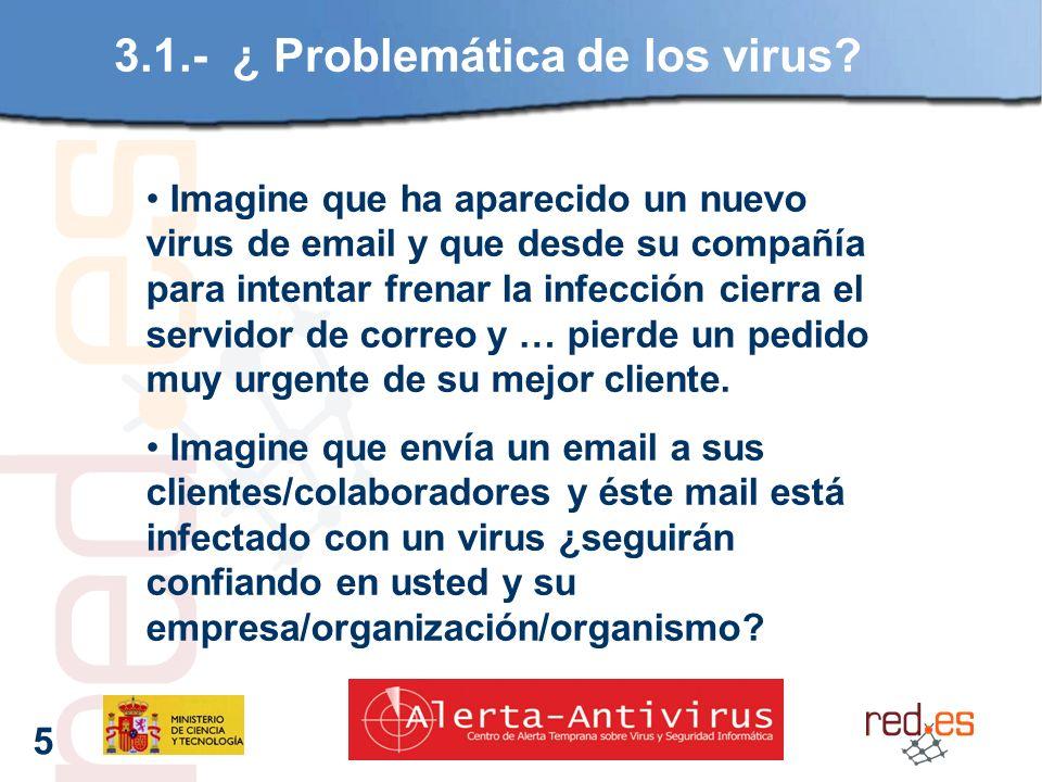 5 3.1.- ¿ Problemática de los virus.