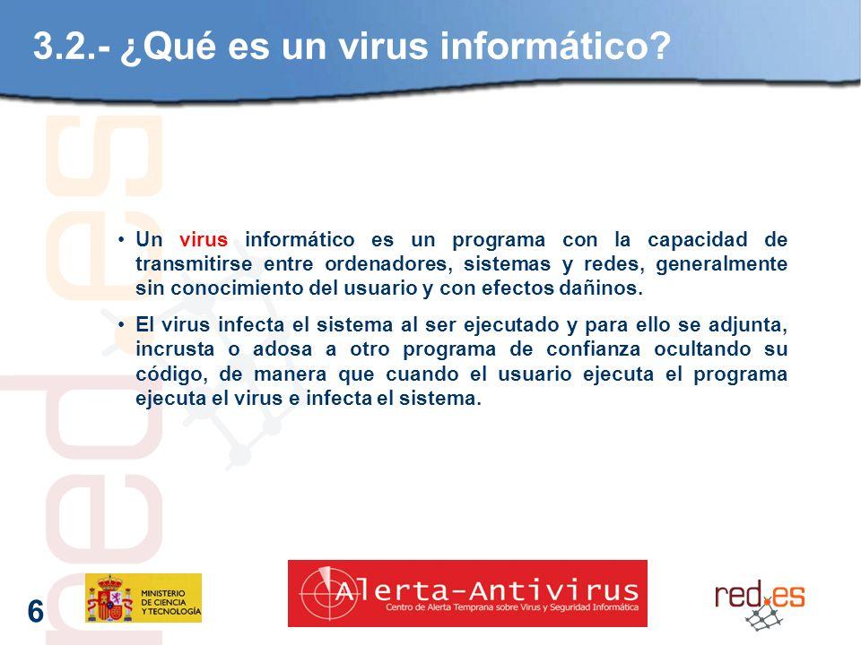 6 3.2.- ¿Qué es un virus informático.