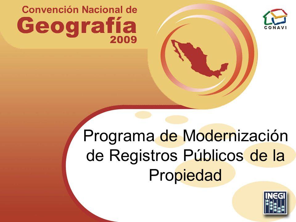 Programa de Modernización de Registros Públicos de la Propiedad