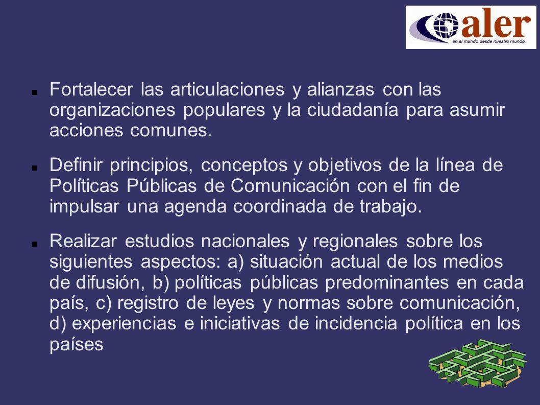 Fortalecer las articulaciones y alianzas con las organizaciones populares y la ciudadanía para asumir acciones comunes.