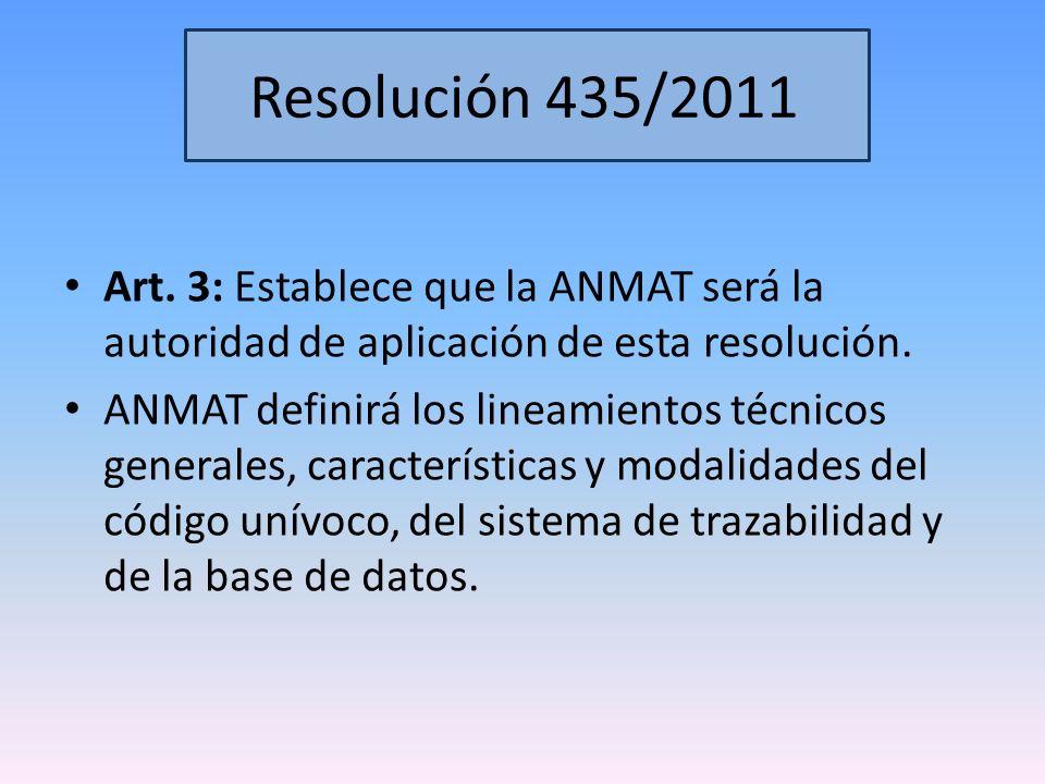 Disposición 3683/2011 Artículo 1: El Sistema de Trazabilidad resultará de aplicación, en una primera etapa a todas aquellas especialidades medicinales, ya registradas o que en el futuro se registren, que contengan en su composición los Ingredientes Farmacéuticos Activos (IFAs) incluidos en el ANEXO I.