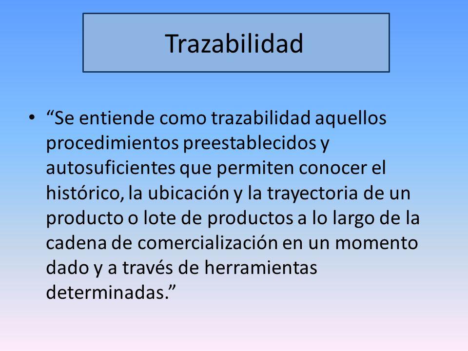 Trazabilidad Es un sistema que permite identificar el origen y las diferentes etapas de un proceso de producción y distribución de bienes de consumo, en este caso, medicamentos.