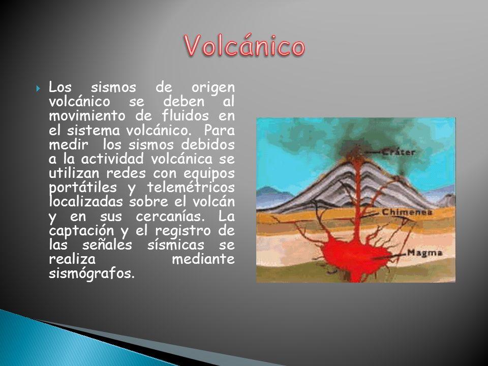 Los sismos de origen volcánico se deben al movimiento de fluidos en el sistema volcánico. Para medir los sismos debidos a la actividad volcánica se ut