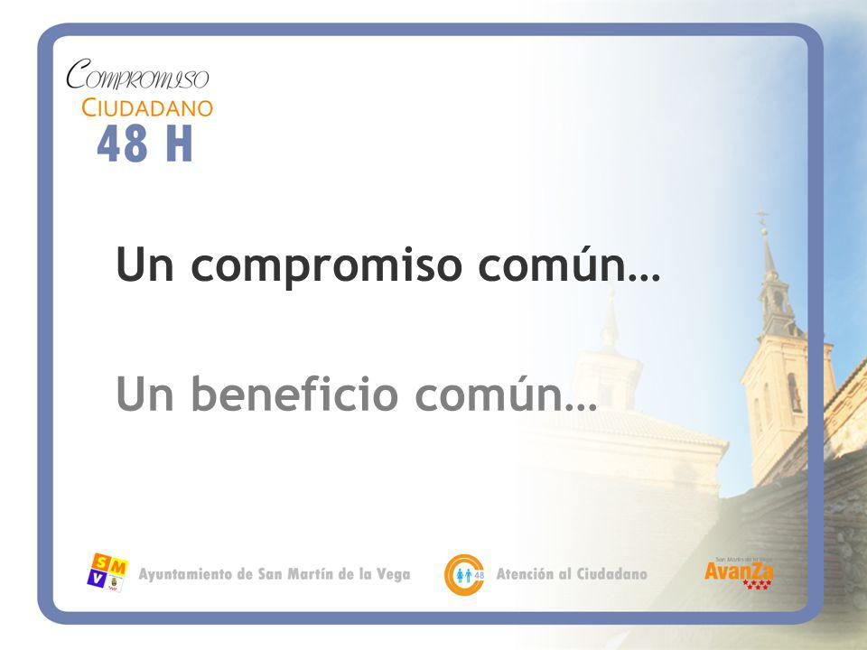 Un compromiso común… Un beneficio común…