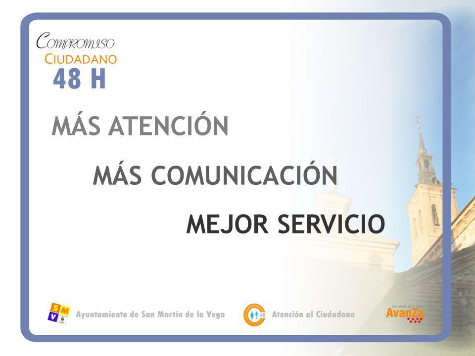 MÁS ATENCIÓN MÁS COMUNICACIÓN MEJOR SERVICIO