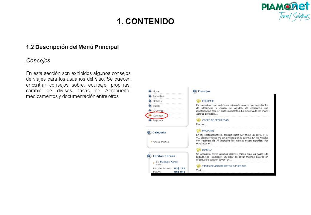 3.2 Contenido Registro de Paquetes Una vez seleccionado se debe hacer click en Continuar, donde se abrirá una ventana más grande.