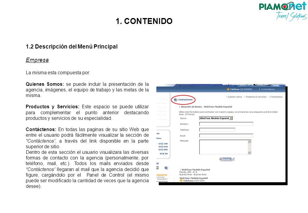 3.2 Contenido Registro de Paquetes Para que el paquete este terminado y listo para que aparezca en la Web, se debe cargar el precio del mismo.
