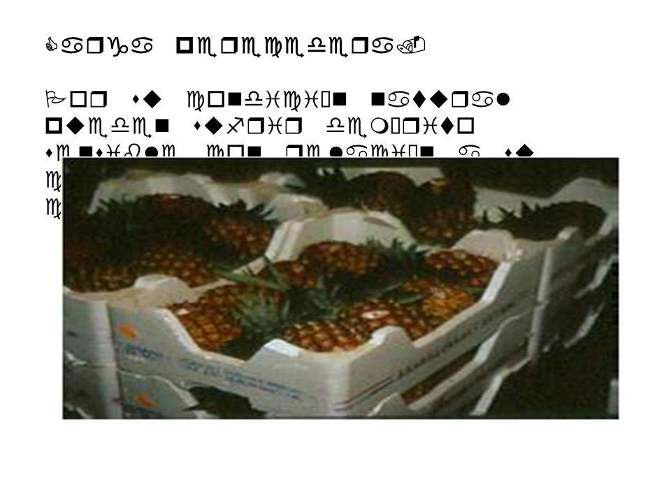 Carga perecedera. Por su condición natural pueden sufrir demérito sensible con relación a su calidad comercial y a su costo.
