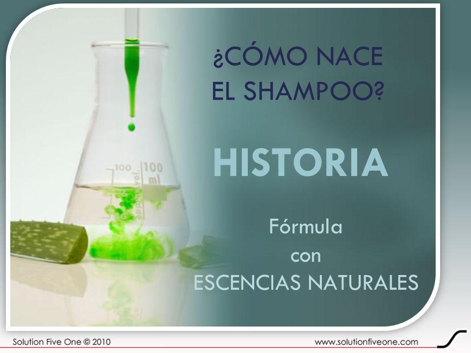 ¿CÓMO NACE EL SHAMPOO? HISTORIA Fórmula con ESCENCIAS NATURALES