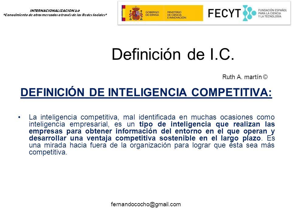 fernandococho@gmail.com Definición de I.C. Ruth A.