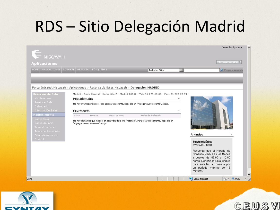 RDS – Sitio Delegación Madrid