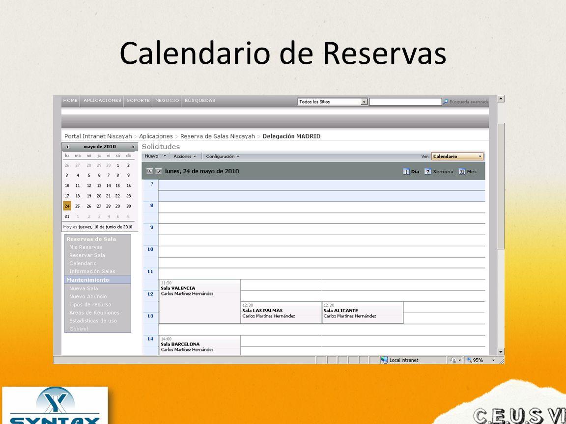 Calendario de Reservas