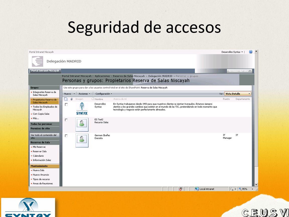 Seguridad de accesos