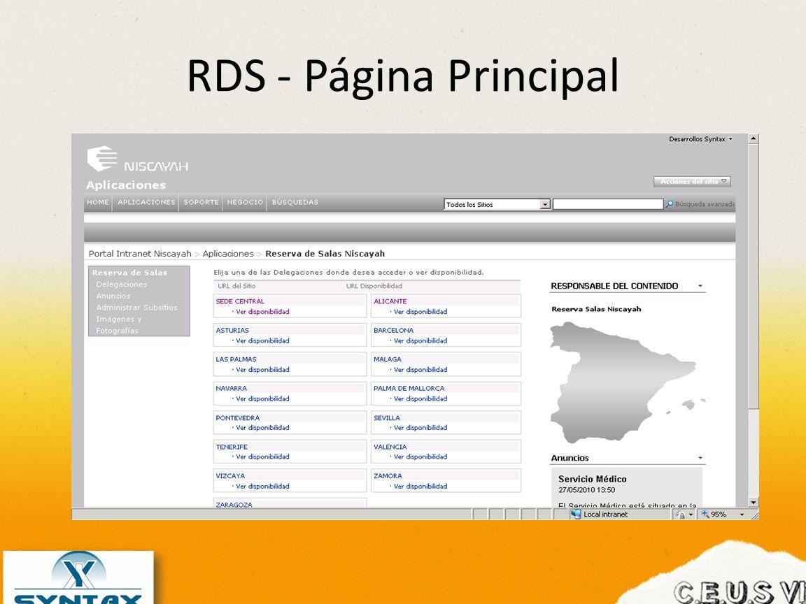 RDS - Página Principal