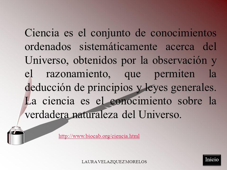 Un proceso mediante el cual se adquiere conocimiento, llamado método científico.