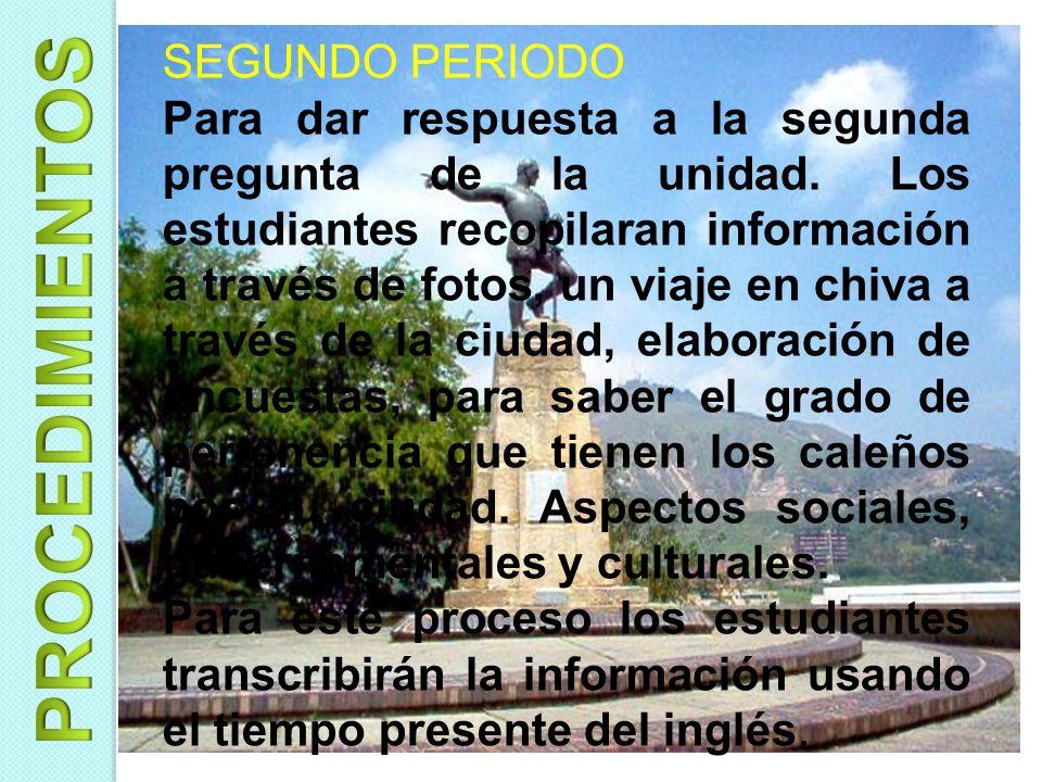 COMIENZO DEL AÑO Presentación del proyecto.