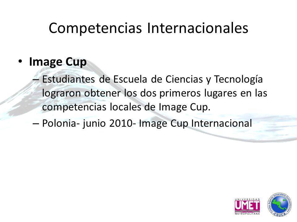 Competencias Internacionales Image Cup – Estudiantes de Escuela de Ciencias y Tecnología lograron obtener los dos primeros lugares en las competencias locales de Image Cup.