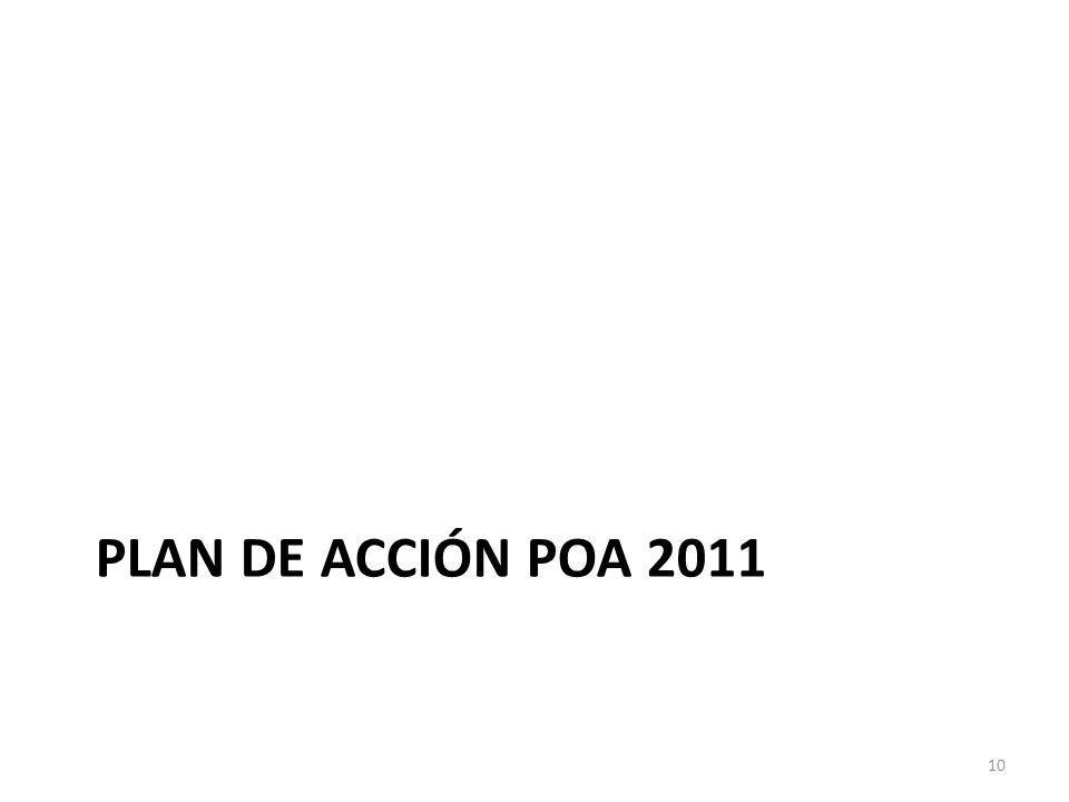 PLAN DE ACCIÓN POA 2011 10