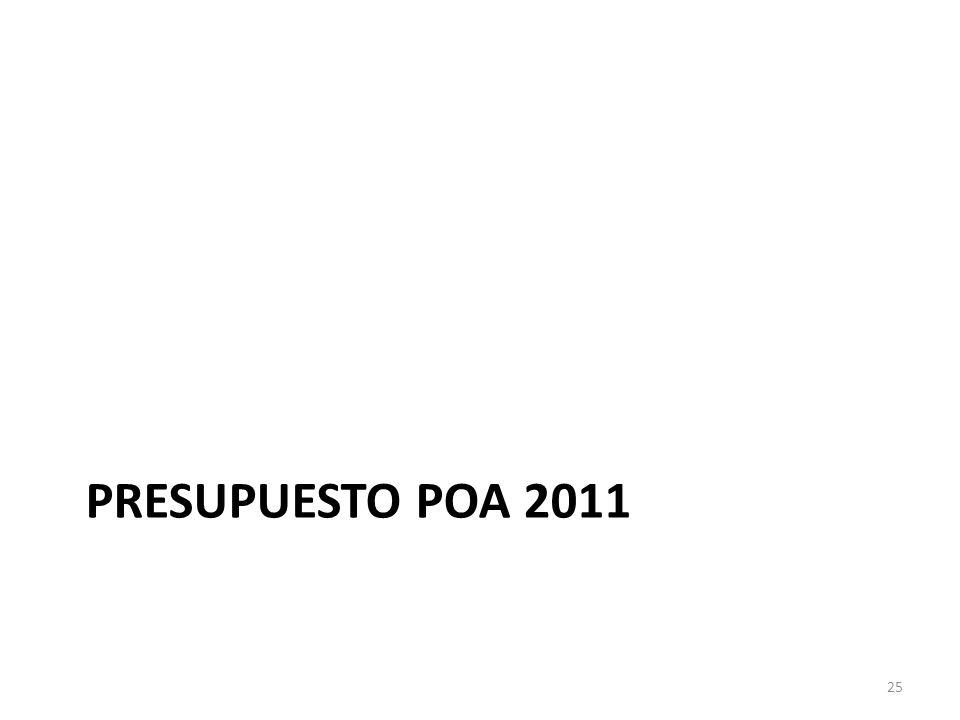 PRESUPUESTO POA 2011 25
