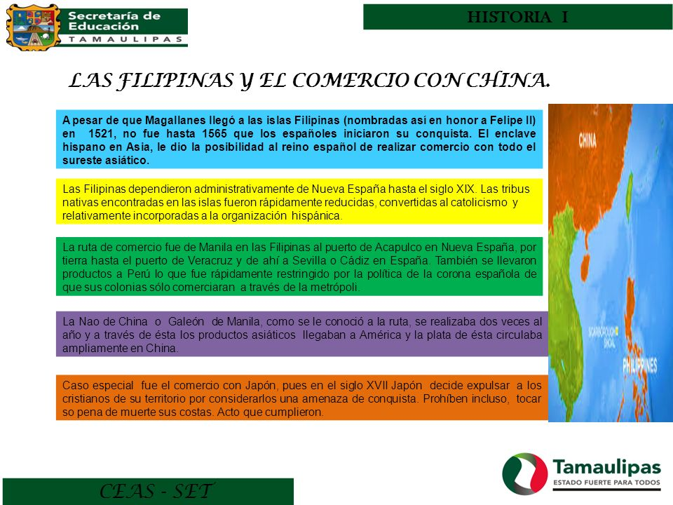 CEAS - SET HISTORIA I LAS FILIPINAS Y EL COMERCIO CON CHINA.