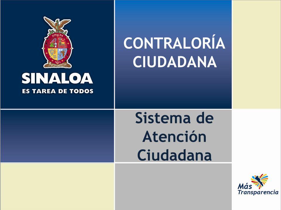 CONTRALORÍA CIUDADANA Sistema de Atención Ciudadana