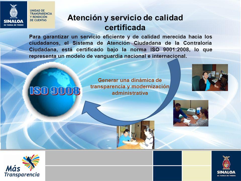 Para garantizar un servicio eficiente y de calidad merecida hacia los ciudadanos, el Sistema de Atención Ciudadana de la Contraloría Ciudadana, está c