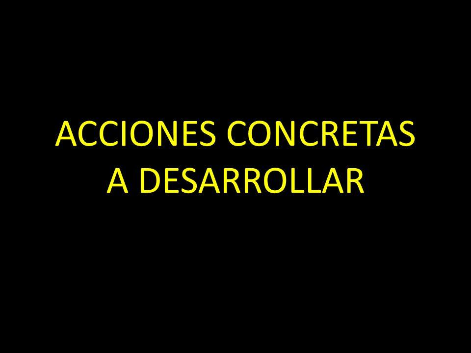 ACCIONES CONCRETAS A DESARROLLAR
