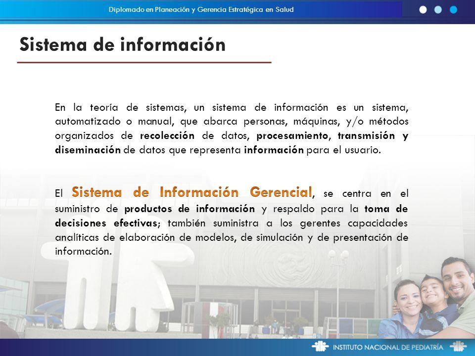 En la teoría de sistemas, un sistema de información es un sistema, automatizado o manual, que abarca personas, máquinas, y/o métodos organizados de recolección de datos, procesamiento, transmisión y diseminación de datos que representa información para el usuario.