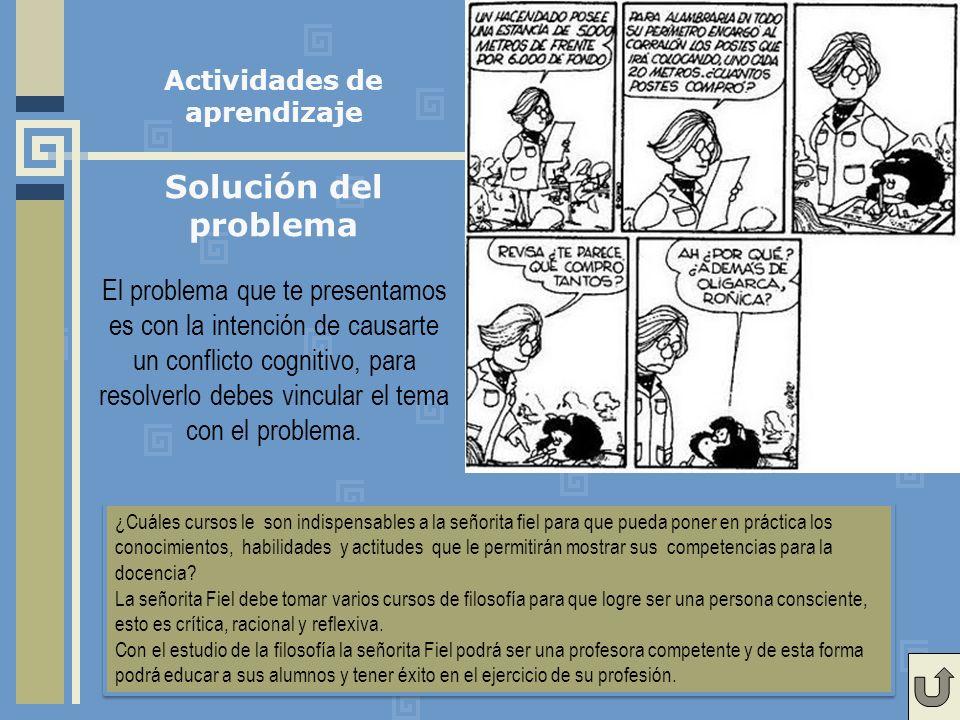 El problema que te presentamos es con la intención de causarte un conflicto cognitivo, para resolverlo debes vincular el tema con el problema.