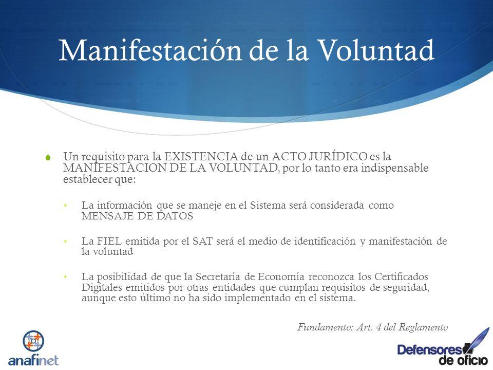 Manifestación de la Voluntad Un requisito para la EXISTENCIA de un ACTO JURÍDICO es la MANIFESTACION DE LA VOLUNTAD, por lo tanto era indispensable es