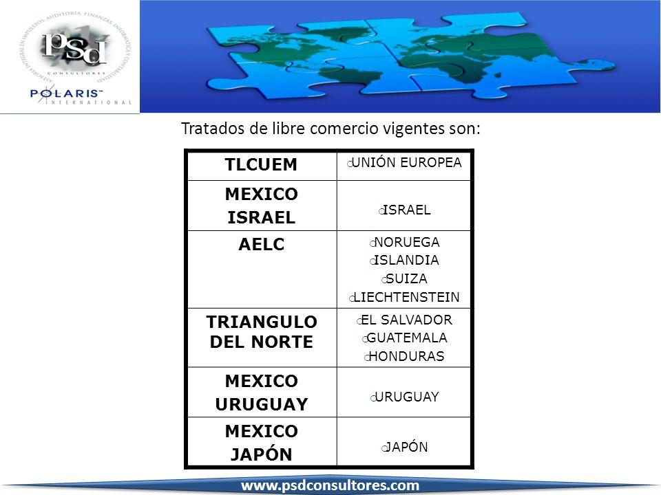 TLCUEM UNIÓN EUROPEA MEXICO ISRAEL AELC NORUEGA ISLANDIA SUIZA LIECHTENSTEIN TRIANGULO DEL NORTE EL SALVADOR GUATEMALA HONDURAS MEXICO URUGUAY MEXICO