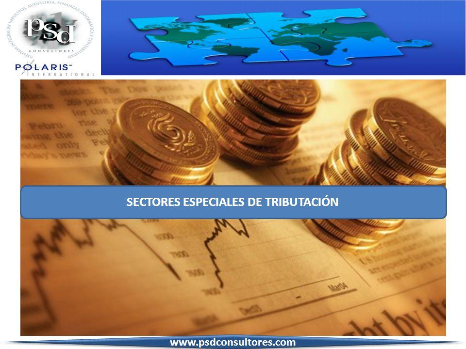 SECTORES ESPECIALES DE TRIBUTACIÓN