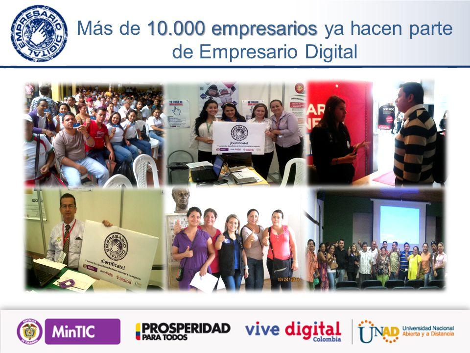 10.000 empresarios Más de 10.000 empresarios ya hacen parte de Empresario Digital
