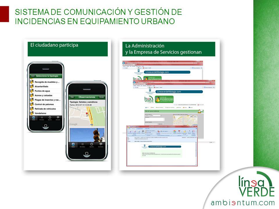 SISTEMA DE COMUNICACIÓN Y GESTIÓN DE INCIDENCIAS EN EQUIPAMIENTO URBANO
