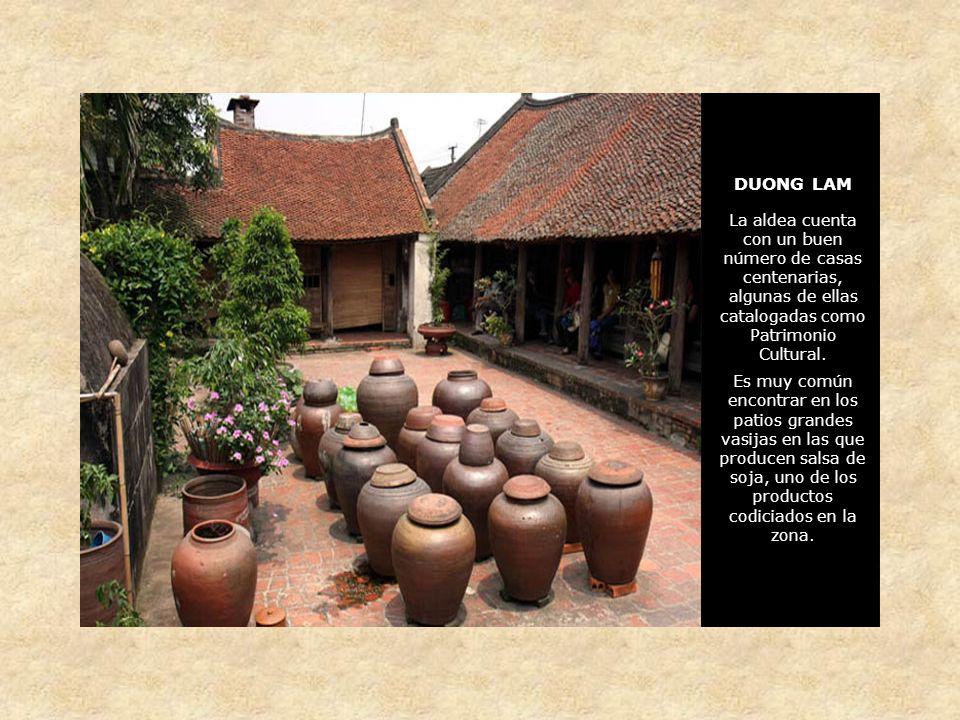 DUONG LAM La aldea cuenta con un buen número de casas centenarias, algunas de ellas catalogadas como Patrimonio Cultural.