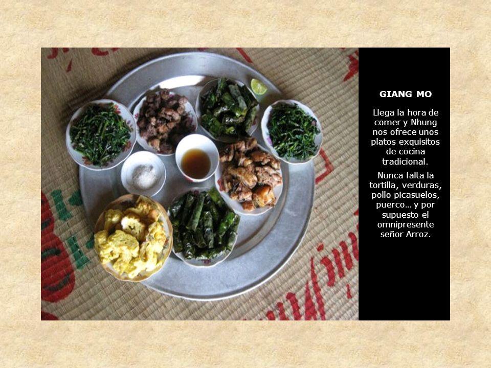 GIANG MO Llega la hora de comer y Nhung nos ofrece unos platos exquisitos de cocina tradicional.